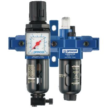 Filtre régulateur lubrificateur 2 blocs avec connexions rapides PREVOST TBPSM1