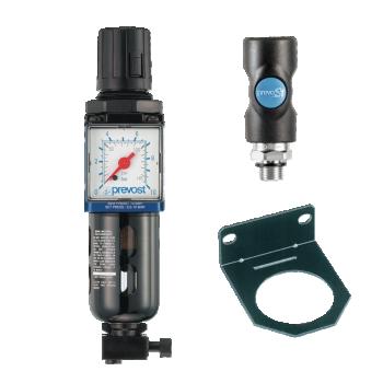 Filtre régulateur avec un raccord rapide de sécurité PREVOST KTMSM1IS