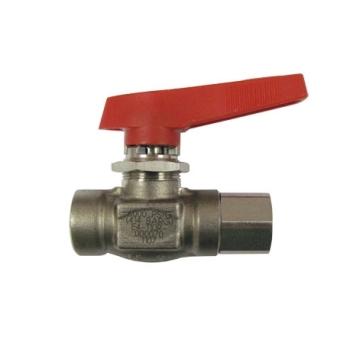 Vanne d'isolement haute pression inox 316L  2 voies 1/4 de tour