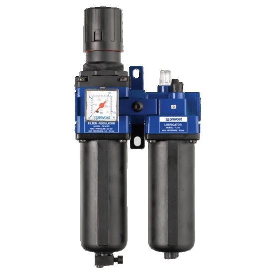 Filtre régulateur lubrificateur 20 BAR 2 blocs PREVOST TBHPSM3