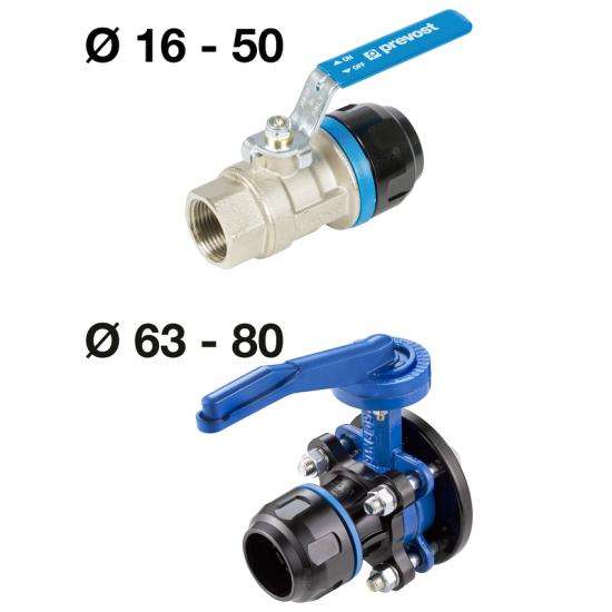 """Vanne en aluminium fileté femelle cylindrique 1""""1/2 pour tubes PREVOST de diamètre 50mm PPS1 RSIF5049"""