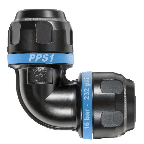 Coude égal 90° en aluminium pour tubes PREVOST de diamètre 63mm PPS1 9C63